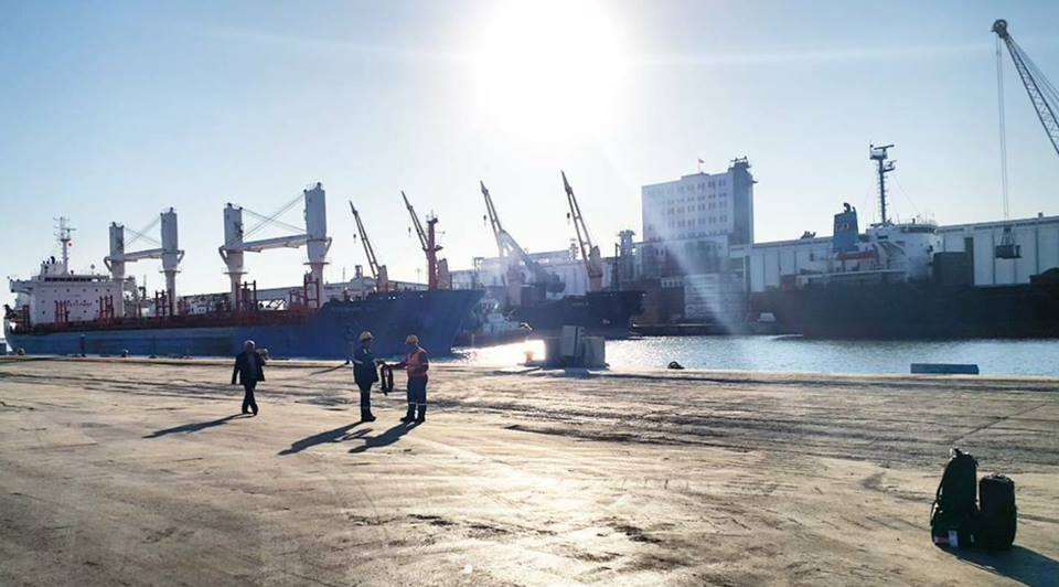 MV MYKONOS BAY-31618,107 MTS STEAM COKE DISCHARGING