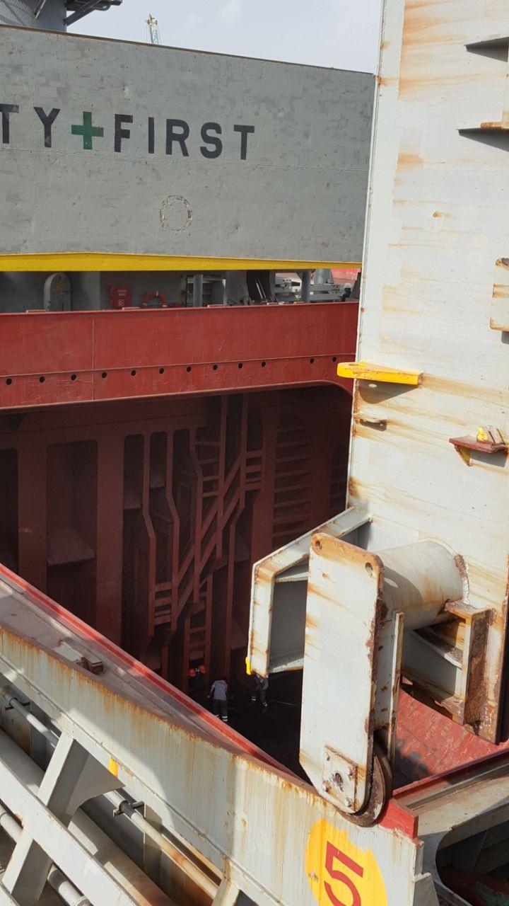 MV NORD SETOUCHI -CHROME IN BULK DISCHARGING OPERATIONS IN MERSIN INTERNATIONAL PORT