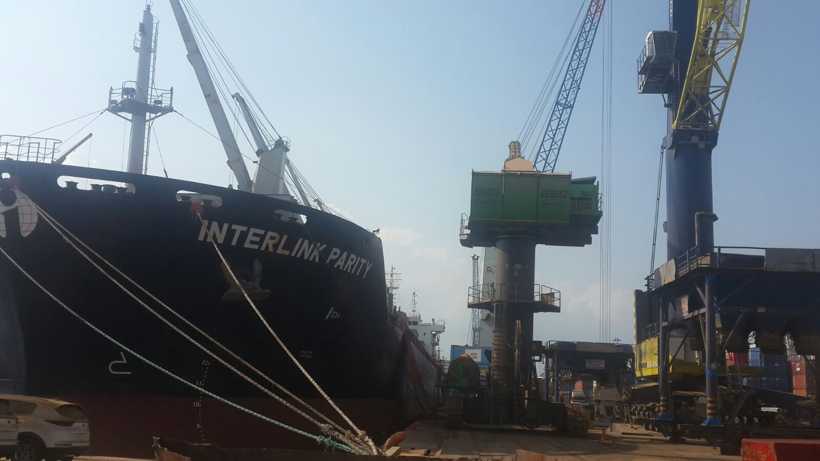MV INTERLINK PARITY – DISCHARGING