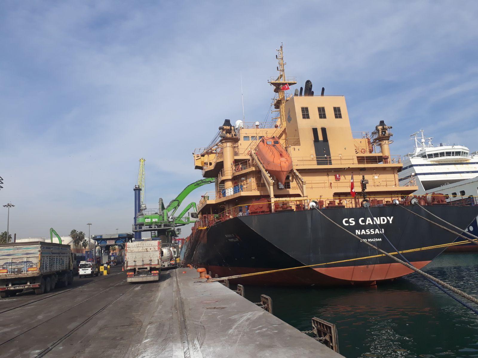 MV CS CANDY – DISCHARGING