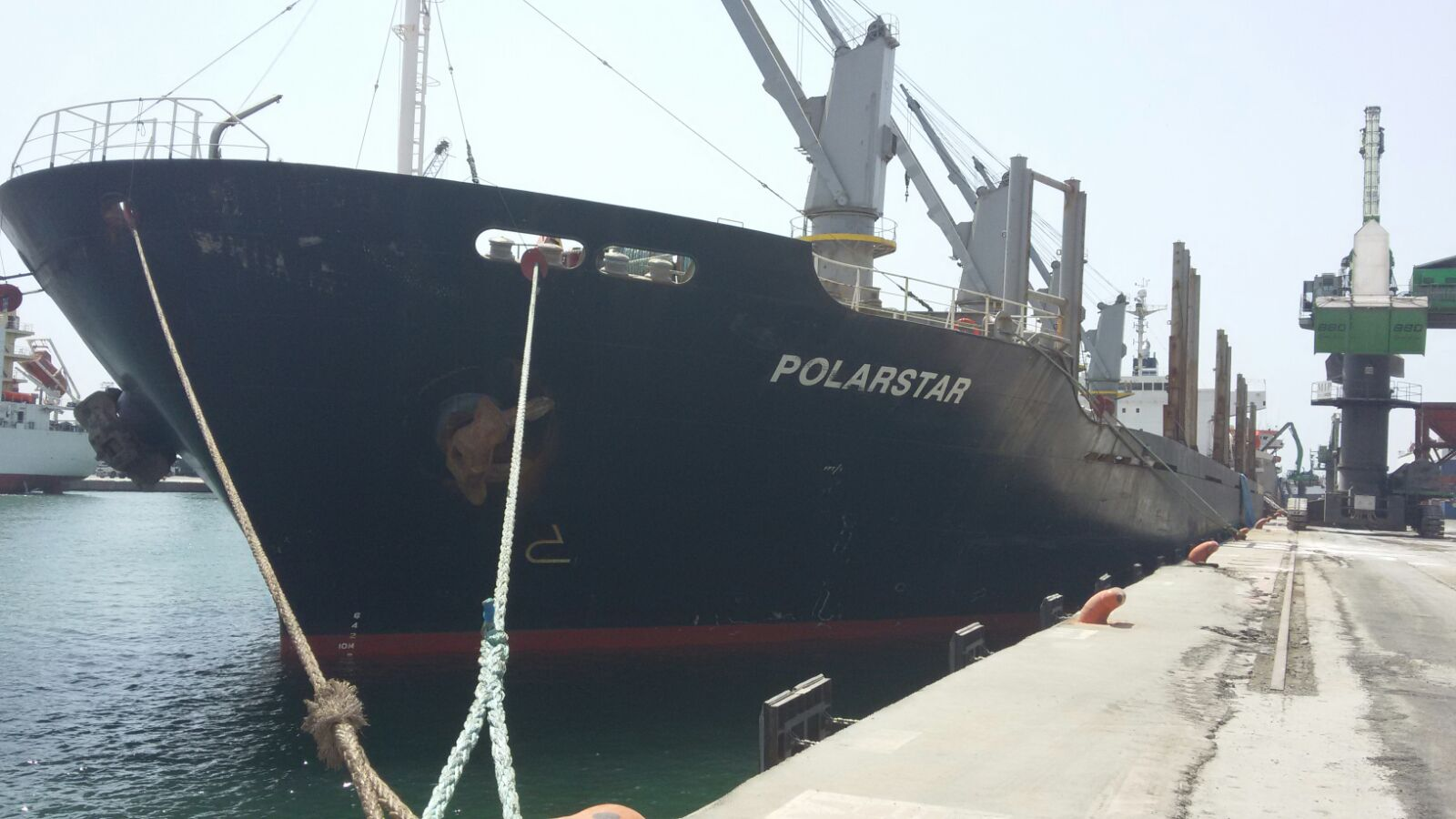 MV POLARSTAR – DISCHARGING
