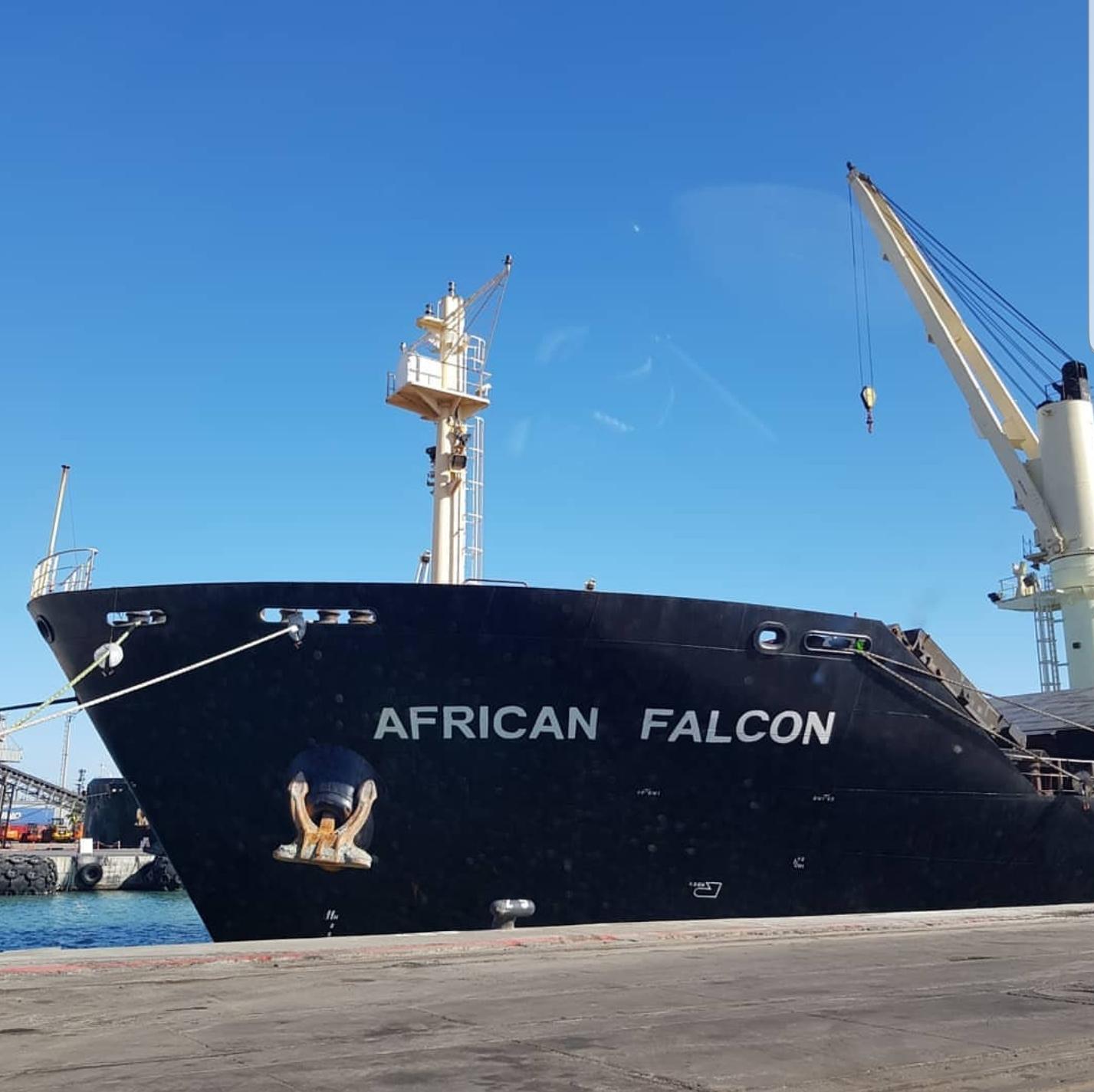 MV AFRICAN FALCON –  DISCHARGING